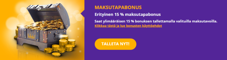 Royal Spinz maksutapabonus 15 %