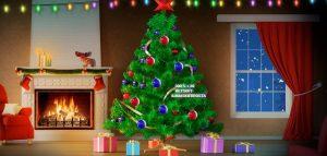 Joulukuusi etukoristeineen Casino Discolla